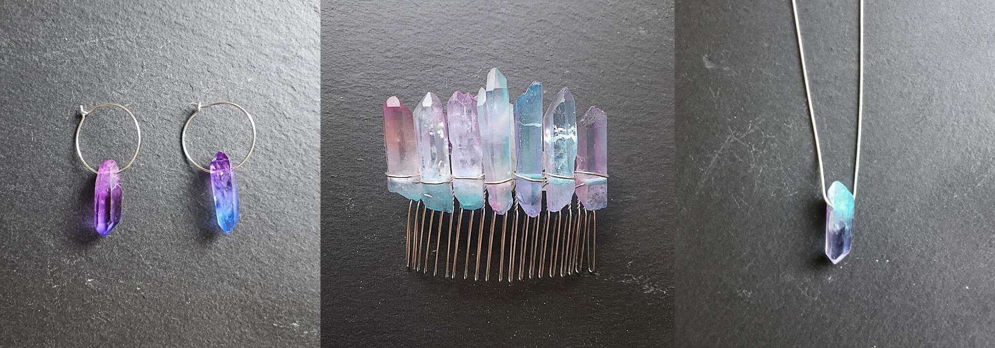 Raw Crystal Jewellery in my Etsy shop